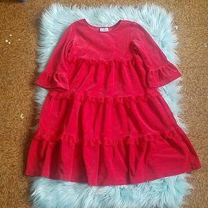 Hanna Anderrson Velvet Layer Ruffle Dress Sz 130
